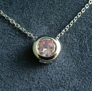 Jewelry - Bezel Set Rose Quartz Necklace